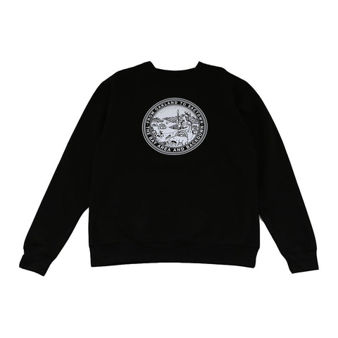 Mens Cali State Seal Crewneck Sweatshirt Black