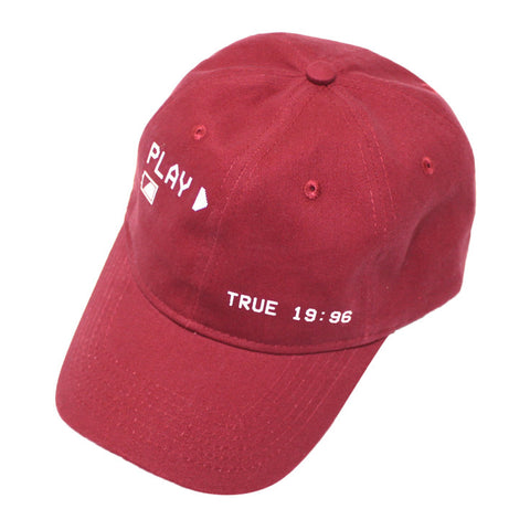 True Charged Up Dad Hat Burgundy
