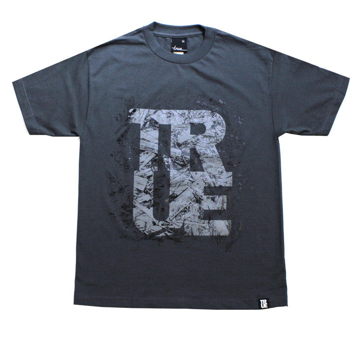 True Mens Chipboard T-Shirt Charcoal
