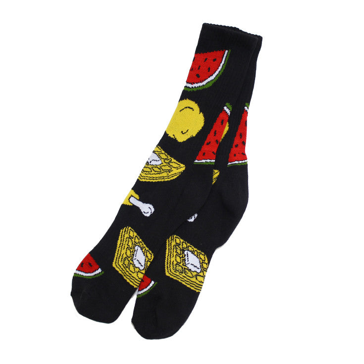 Chicken Socks Black - Shop True Clothing