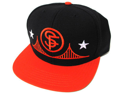 SFCA Circle SF Snapback Cap Black/Orange