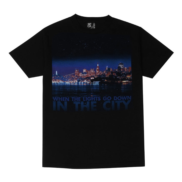 Mens SFCA City Lights T-Shirt Black