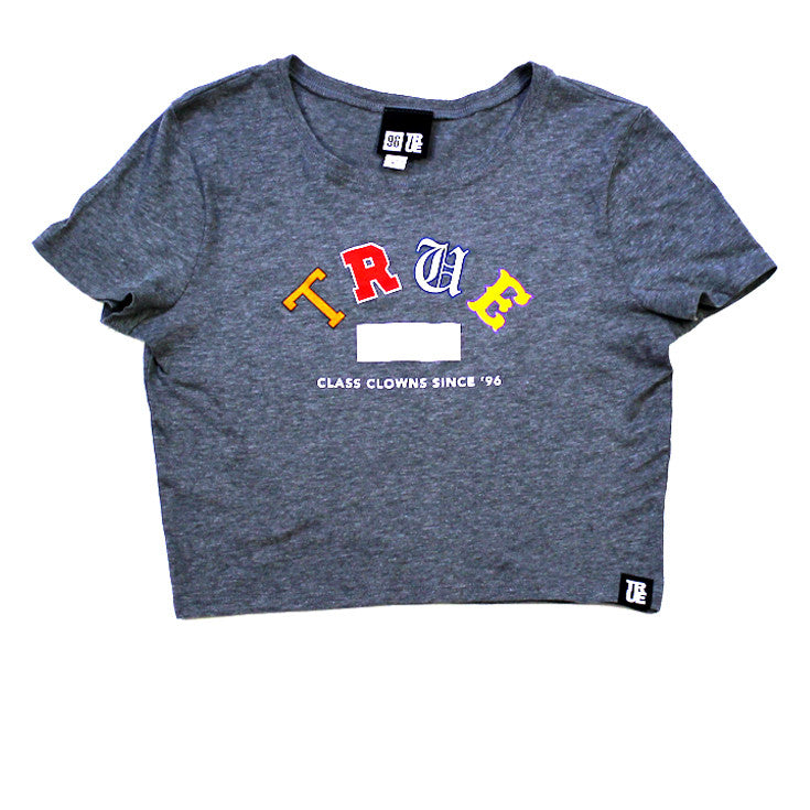 True Womens Class Clowns Crop Top Heather - Shop True Clothing