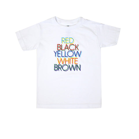 Kids True Colors T-Shirt White