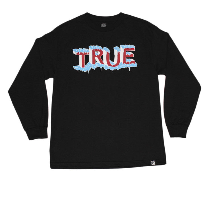 True x George Anzaldo Mens Cooler Than Long Sleeve T-Shirt Black