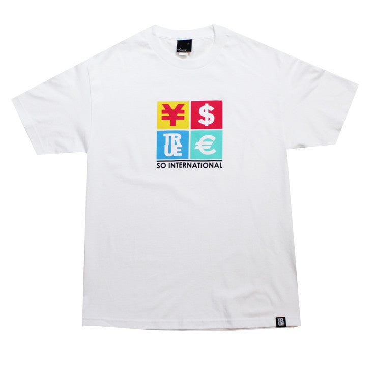 True Mens Currency T-Shirt White