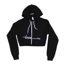 Load image into Gallery viewer, True Womens Darkside Crop Hoodie Black - Shop True Clothing
