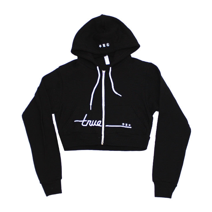 True Womens Darkside Crop Hoodie Black - Shop True Clothing
