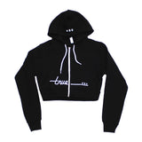 True Womens Darkside Crop Hoodie Black