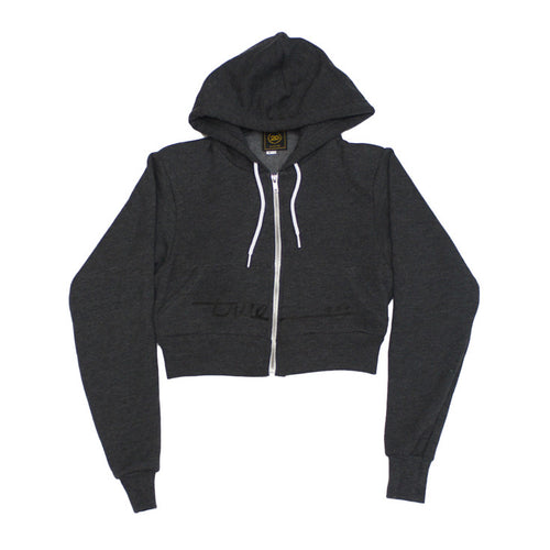 True Womens Darkside Crop Hoodie Charcoal - Shop True Clothing