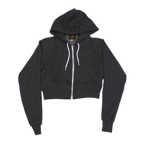 True Womens Darkside Crop Hoodie Charcoal