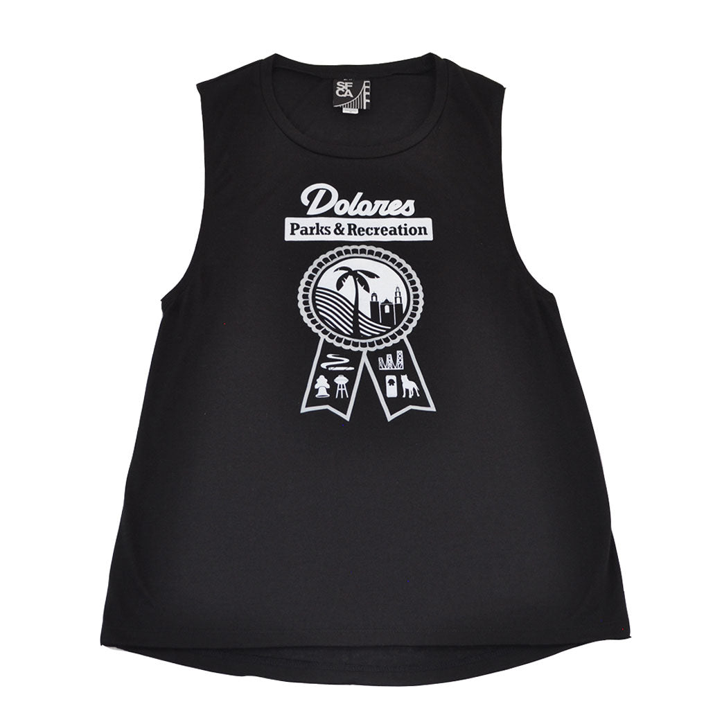 Womens SFCA Park & Rec Tank Top Black - Shop True Clothing