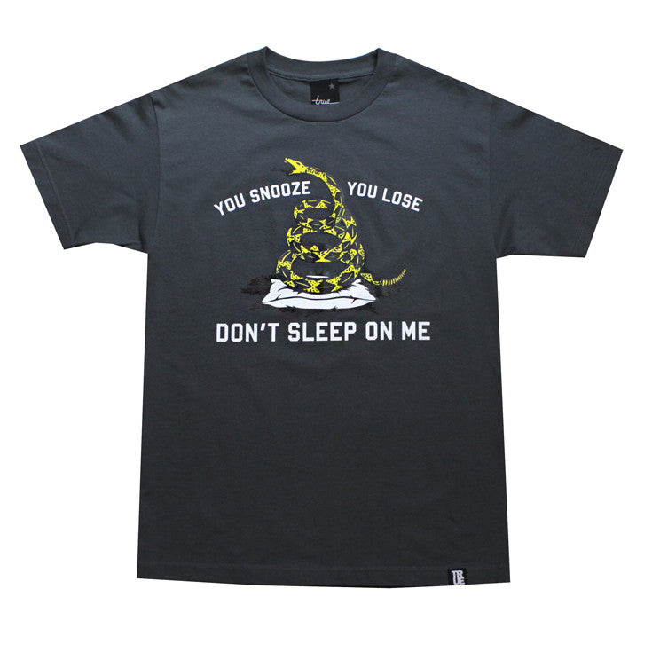True Mens Don't Sleep T-Shirt Charcoal