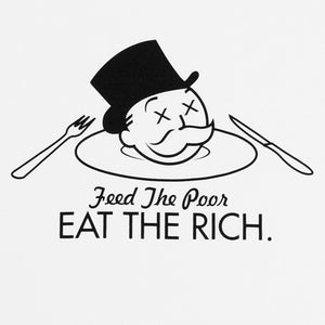 Mens True Eat The Rich T-Shirt White - Shop True Clothing