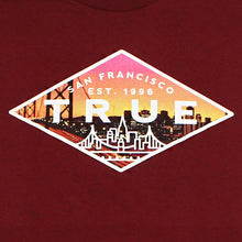 Load image into Gallery viewer, True Mens Established 2 T-Shirt Burgundy - Shop True Clothing