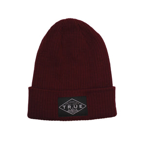 True Established Beanie Burgundy - Shop True Clothing