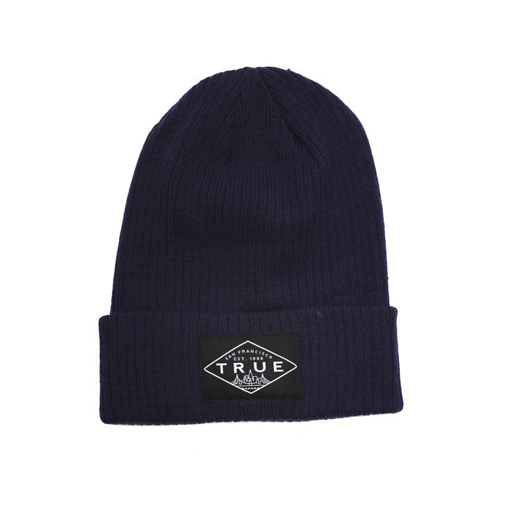 True Established Beanie Navy - Shop True Clothing