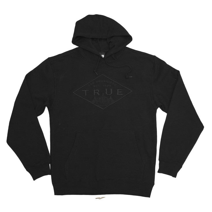 Mens True Established Hoodie Black - Shop True Clothing