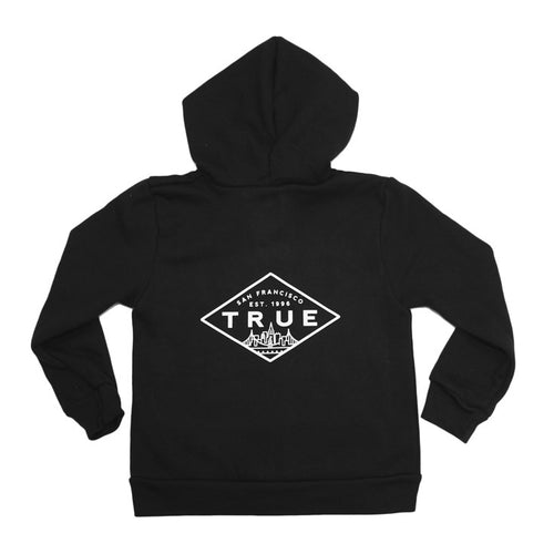 Kids True Established Hoodie Black - Shop True Clothing