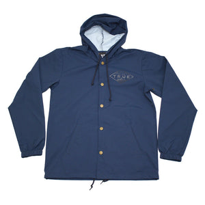 True Mens Established Rain Jacket Navy - Shop True Clothing
