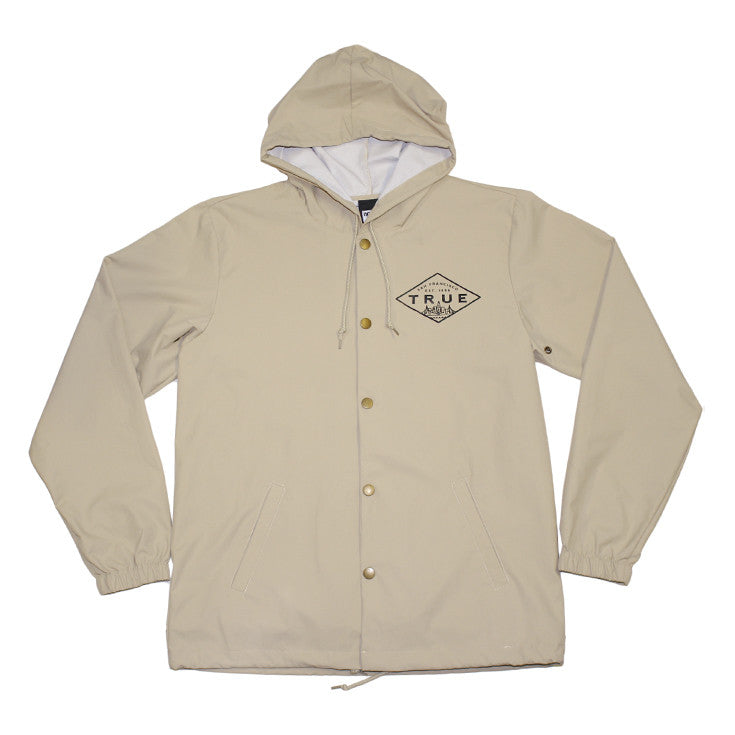 True Mens Established Rain Jacket Tan – Shop True Clothing