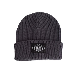 True Established Waffle Beanie Charcoal