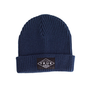 True Established Waffle Beanie Navy