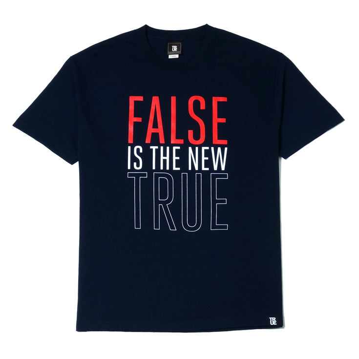 Mens True False Is T-Shirt Navy
