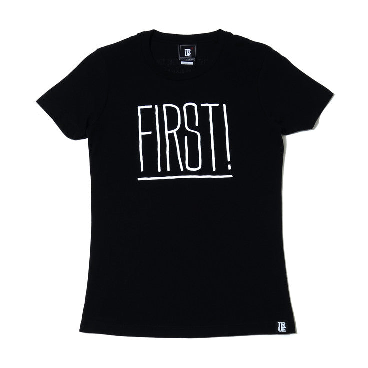 Womens True First T-Shirt Black