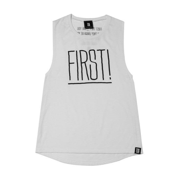 Womens True First Tank Top White