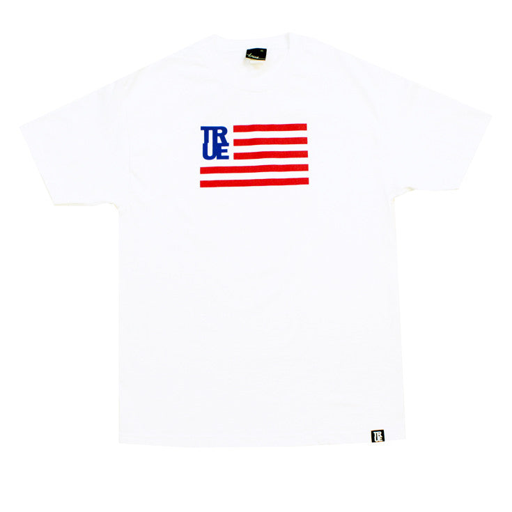 True Mens Flag T-Shirt White - Shop True Clothing