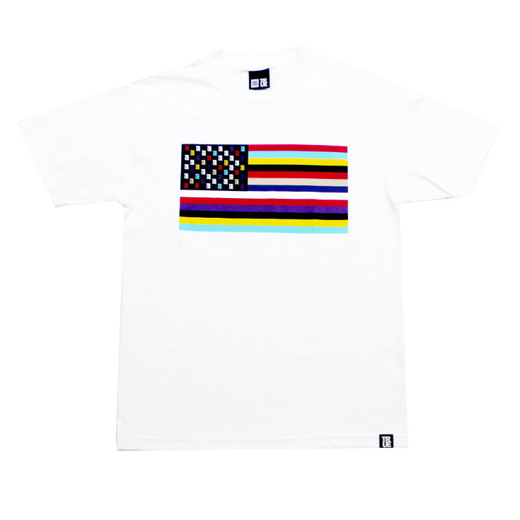 True Mens Flag 2 T-Shirt White