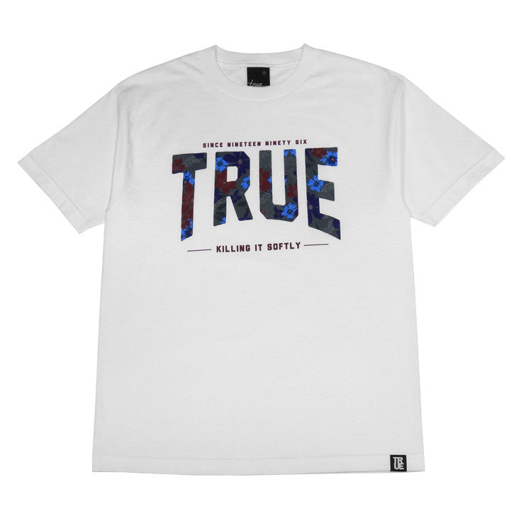 Mens True Floral 2 T-Shirt White