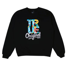 Load image into Gallery viewer, Mens True Floral Crewneck Sweatshirt Black - Shop True Clothing