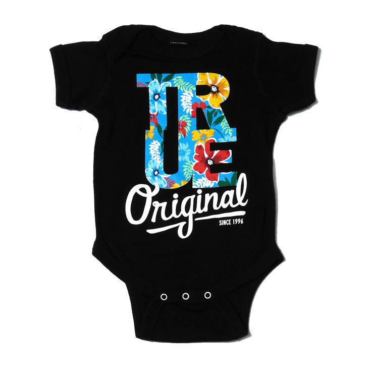 Kids True Floral One Piece Black