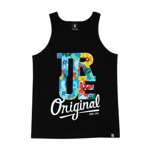 Mens True Floral Tank Top Black - Shop True Clothing