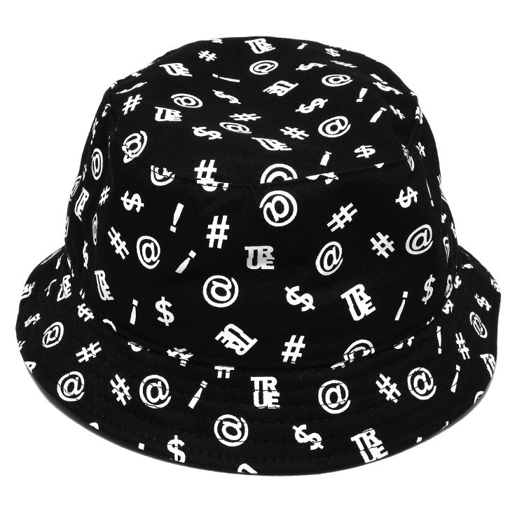 True Four Letter Bucket Hat Black