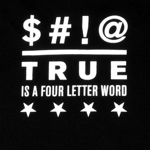 Mens True Four Letter Word T-Shirt Black - Shop True Clothing