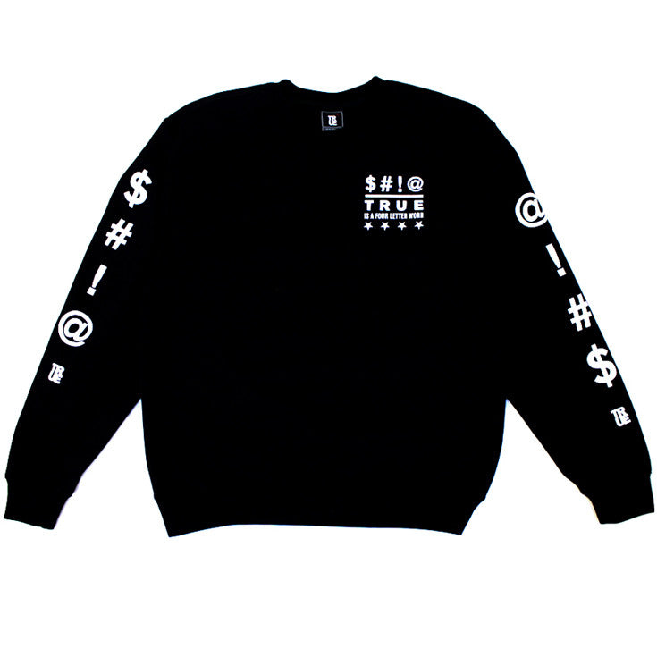 True Four Letter Men's Crewneck Sweatshirt Black