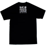 Mens True Four Letter T-Shirt Black