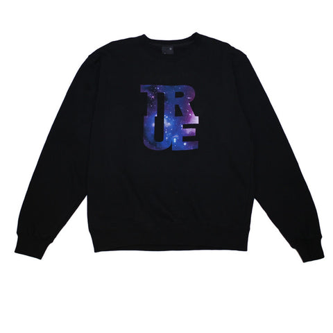 Mens True Galaxy Crewneck Sweatshirt Black