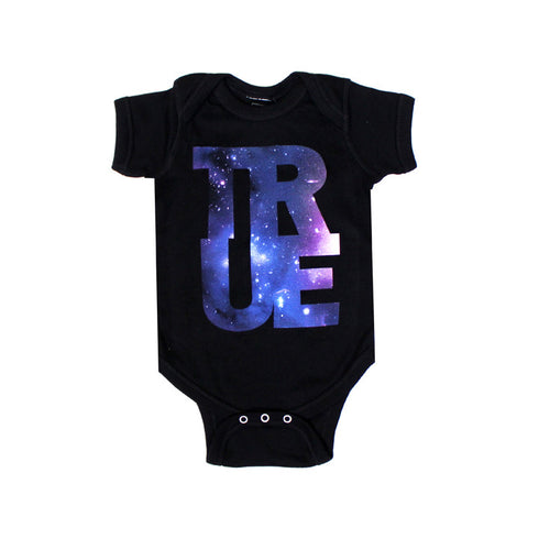 Kids True Logo Galaxy One Piece Black - Shop True Clothing