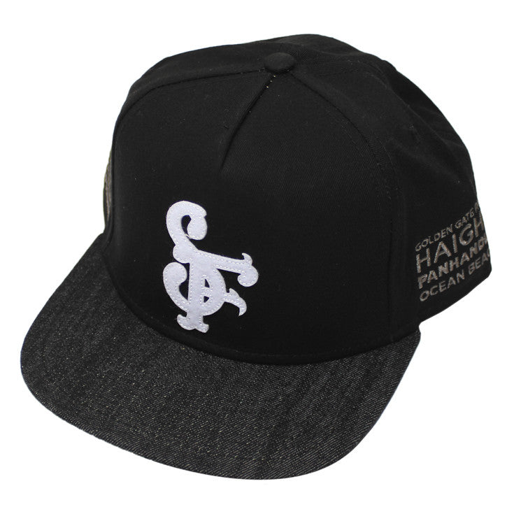 True Get Faded Snapback Black
