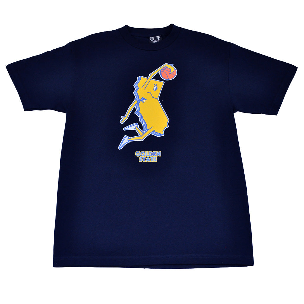 Mens Thrill Of Victory Golden State T-Shirt Navy - Shop True Clothing