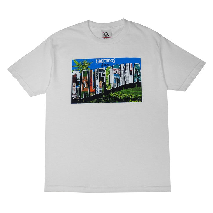 Mens Cali Greetings T-Shirt White - Shop True Clothing