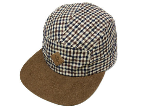 True Grown Man Plaid Camp Cap Tan - Shop True Clothing
