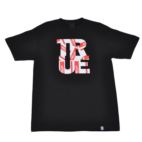 Mens True Hello T-Shirt Black