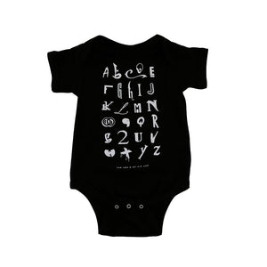 Kids True Hip Hop Alphabet One Piece Black - Shop True Clothing