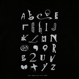 Kids True Hip Hop Alphabet T-Shirt Black - Shop True Clothing