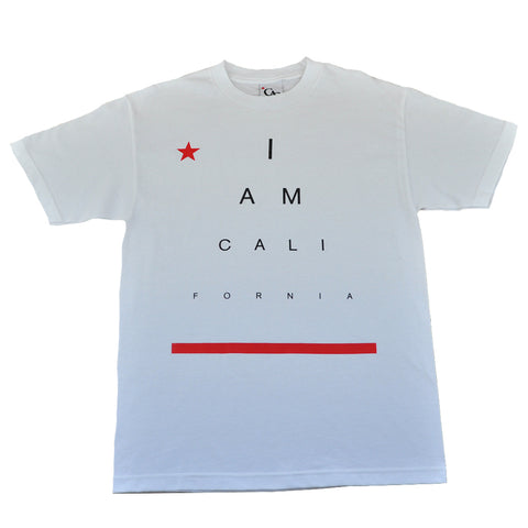 Mens Cali I Am T-Shirt White
